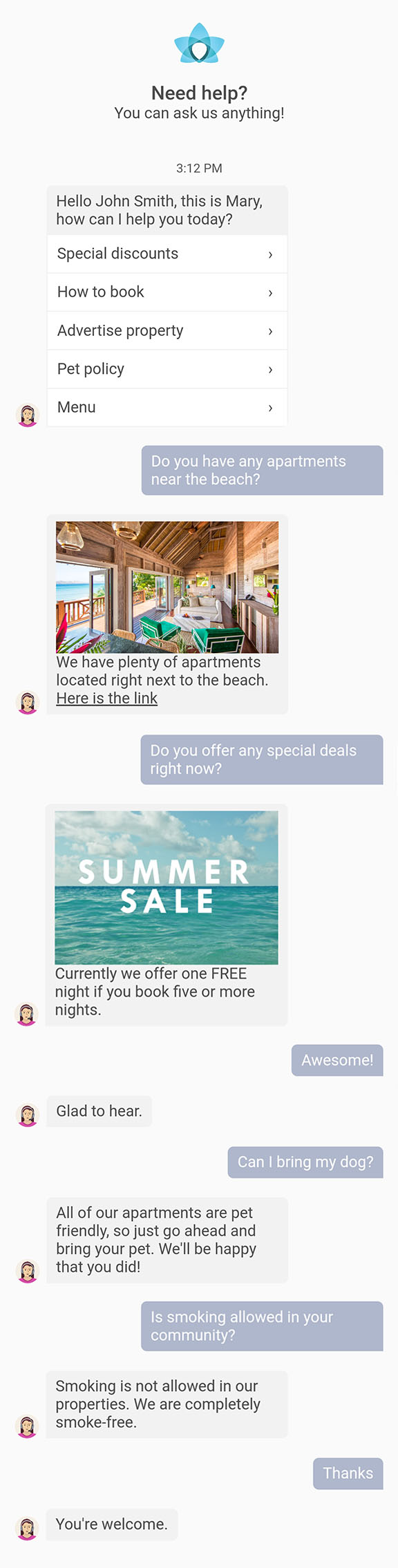 AI powered real estate assistant | Apartment Ocean